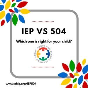 IEP vs 504 plans